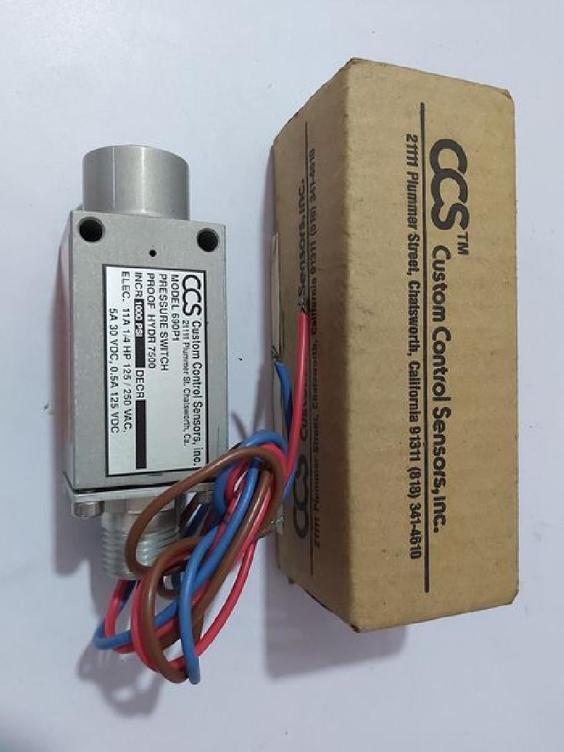 CCS 40P40 CUSTOM CONTROL SENSORS PRESSURE SWITCH 40000 PSI   S N ...